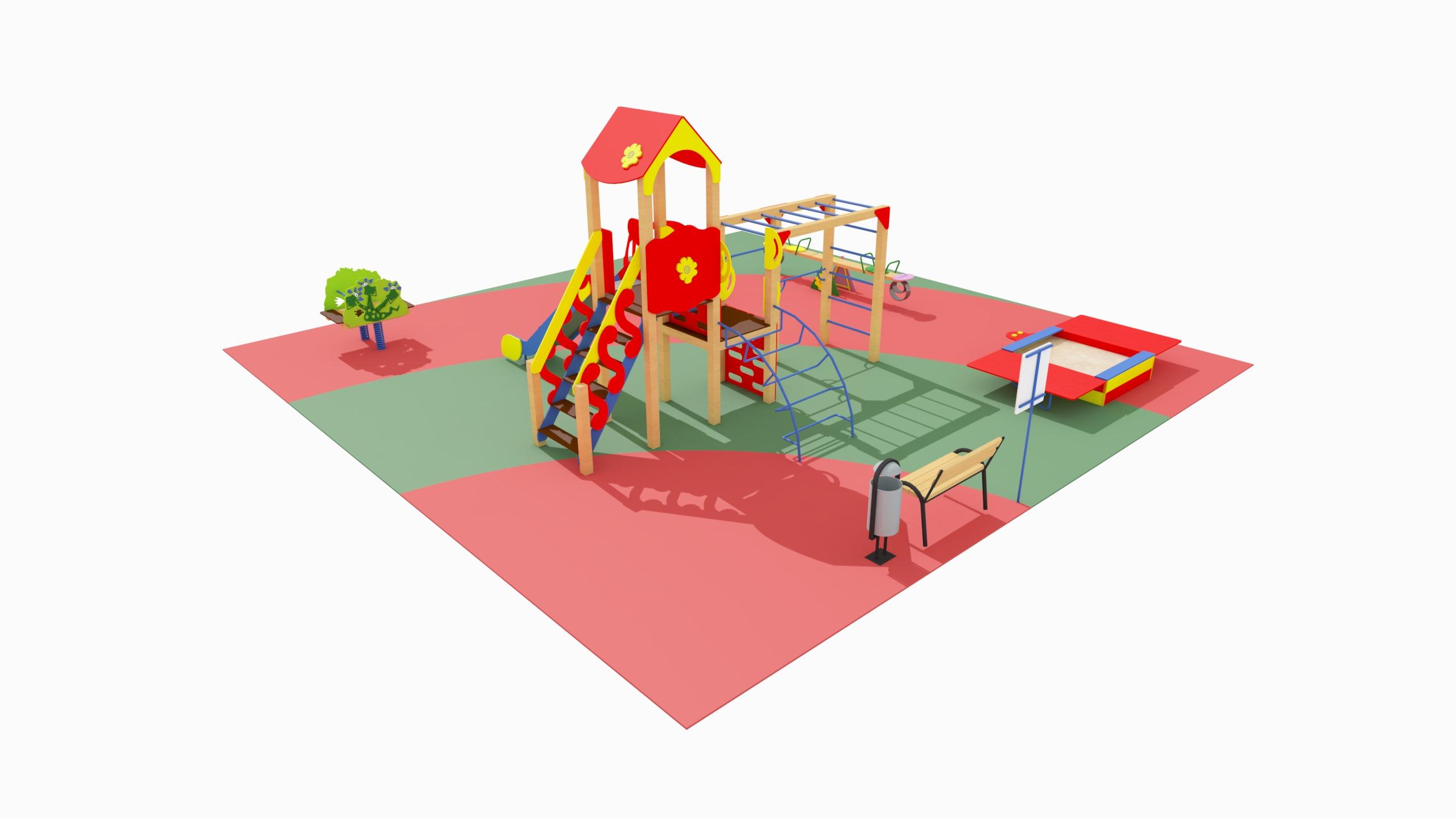 Детская игровая площадка №3 (10x10)