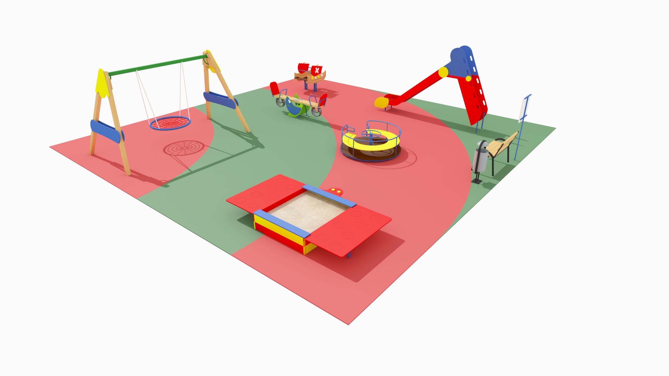Детская игровая площадка №4 (10x10)