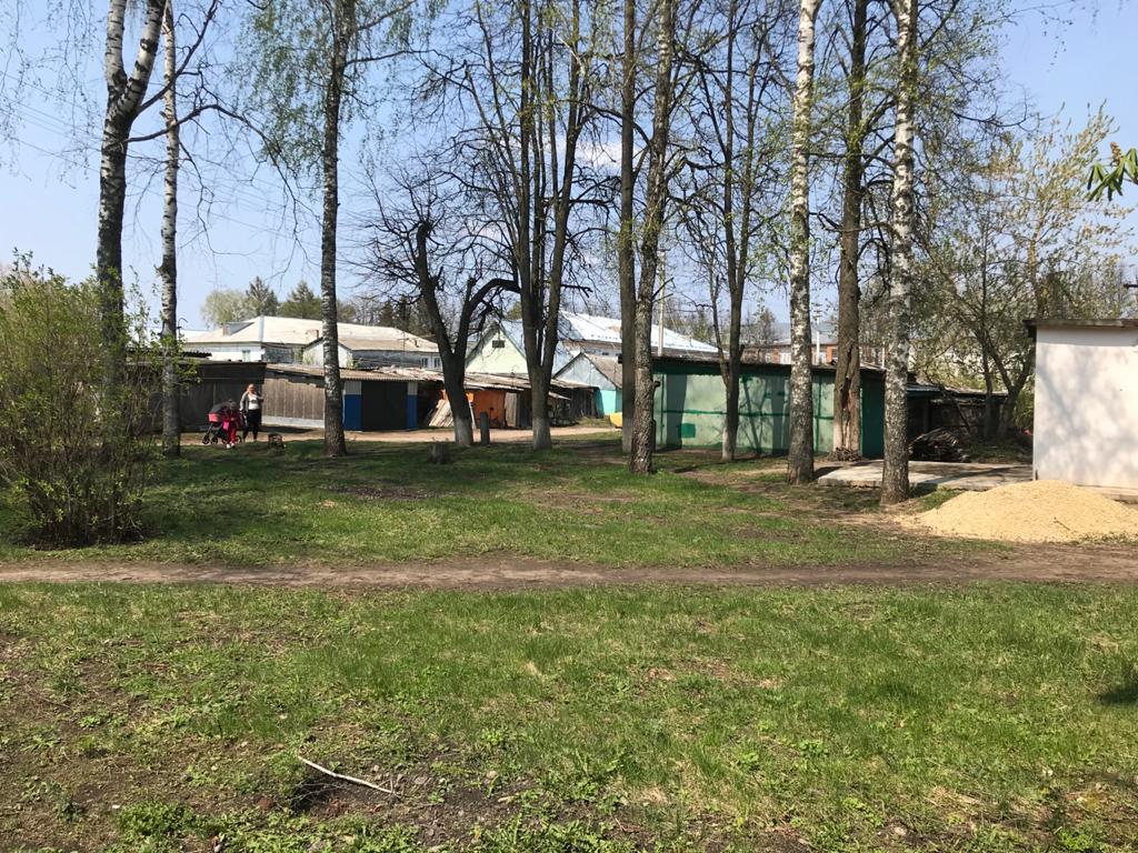 Обустройство детской игровой площадки в пос. Волово, улица Хрунова, Воловского района
